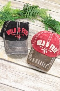 Wild & Free Distressed Hat With Leather Detail