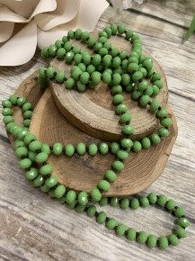Point Of Perfection Beaded Necklace In Sweet Pea