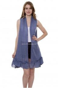 Summer Solid Color Vest with Ruffled Bottom in Multiple Colors