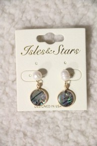 Perfect Day Abalone And Pearl Drop Earring