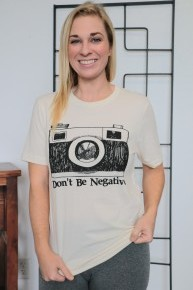 Don't Be Negative Graphic Tee In Cream- Sizes 4-12