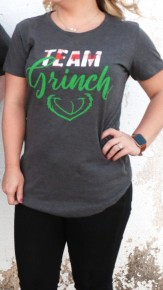 Team Grinch Graphic Tee In Charcoal - Sizes 4-18