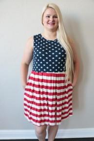 Good Ol' USA Stars & Stripes Sundress - Sizes 4-20