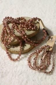 Rose Gold Point Of Perfection Bundle & 3 Strand Beaded Bracelet