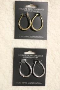 Simple Life Hoop Earrings In Multiple Colors