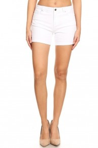 The Kayla Basic White Short with Cuffed Hem - Sizes 4-10