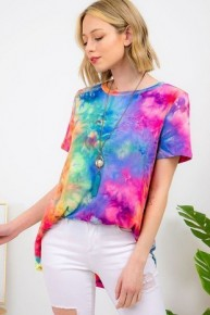 Color Me Happy Tie-Dye Top - Sizes 40-20