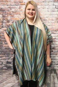 Make Time Striped Kimono In Multiple Colors- One Size