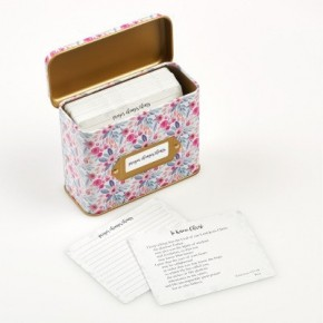 Prayer Cards in a Floral Tin In Multiple Prints- 50 cards