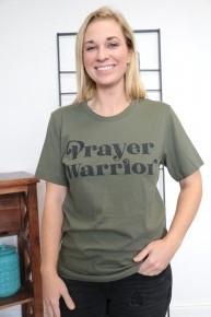 Prayer Warrior Graphic Tee In Olive- Sizes 4-12