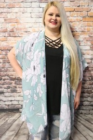 Make Today the Best Super Soft Floral Kimono in Multiple Colors - One Size Fits Most