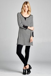 You Just Want Attention Striped Tunic - Sizes 4-10