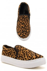 Along The Way Leopard Slip On Sneakers