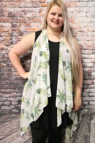 Getting Tropical Pineapple Kimono Vest - One Size Fits Most
