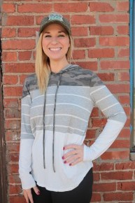I Will Rescue You Camo & Striped Lightweight Hoodie - Multiple Colors - Sizes 4-12