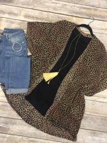Ever So Soft Leopard Kimono - One Size
