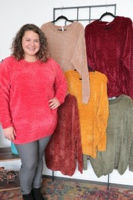 Today is My Day Long Sleeve Chenille Sweater in Multiple Colors Sizes 4-20