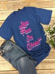 Live Free In Christ June 2019 Tee of the Month - Sizes 4-20