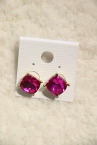Just Be You Fuchsia Jewel Stud Earring