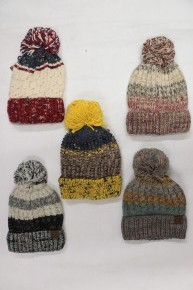 Step Up Your Game Crochet Pom CC Beanie in Multiple Colors