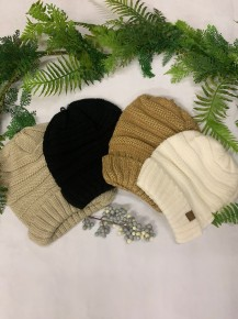 Right Down The River  Knit Beanie In Multiple Colors