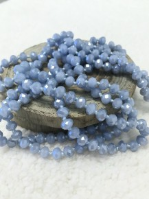 Point Of Perfection Beaded Necklace In Cornflower