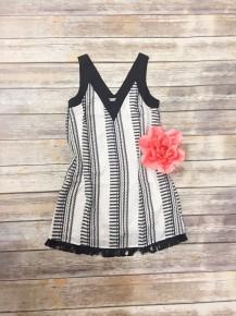What A Feeling Sleeveless Dress with Fringe - Sizes 2-10