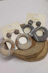 So Much Class Plaid Circle Earring In Multiple Prints