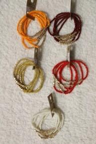 Shine Bright 5 Strand Beaded Stretch Bracelet In Multiple Colors