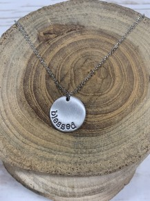 Blessed Pendant Necklace - Silver