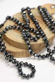 Point Of Perfection Beaded Necklace In Dark Sky