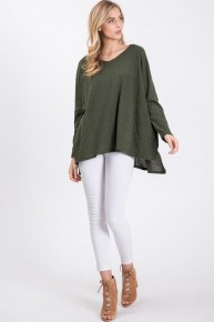Forever Mine V Neck Piko Sweater In Multiple Colors- Sizes 4-10