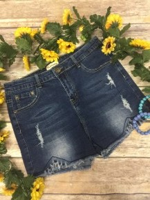 True To Yourself Distressed Denim Shorts - Sizes 4-18