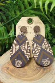 No Worries Brown Oval Shaped Earrings