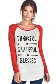 Thankful, Grateful, Blessed Graphic Raglan Sizes 4-10