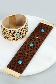 Truly Cuffed By You Leopard Magnetic Bracelet - Multiple Colors