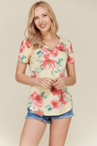 Sunny Days Ahead Floral Top in Yellow - SIzes 4-10