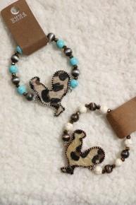 Daybreak Leopard Print Rooster Stretch Bracelet In Multiple Colors