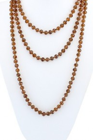 Point Of Perfection Beaded Necklace In Amber