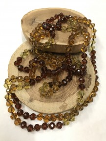 Point Of Perfection Beaded Necklace In Golden Honey