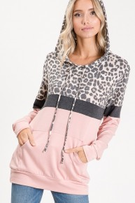 Come One Come All Contrast Hoodie In Pink - Sizes 4-20