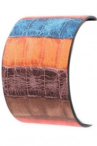 True To Yourself Colorful Faux Leather Bracelet