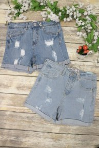 Above The Water Cuffed Denim Shorts In Multiple Colors- Sizes 4-10