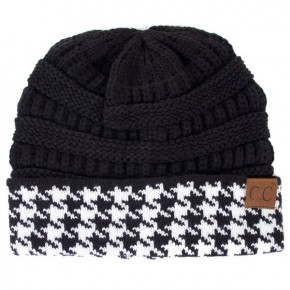 Rise Up In Victory Houndstooth Contrast CC Beanie - Multiple Colors
