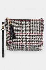 Hand Me All The Things Houndstooth Crossbody Bag With Accent Color - Multiple Colors
