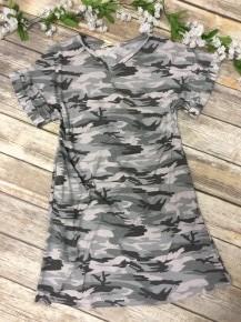 One Sweet Day V-Neck Camo Sleeved Dress - Sizes 4-20