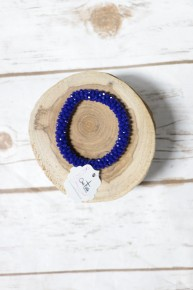 Perfect Stretch Sapphire Sparkle Beaded Bracelet