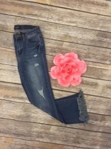 Frayed Around The Edges Jeans in Medium Denim ~ Sizes 0-15