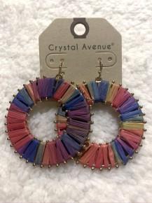 Fun In The Sun Circle Thread Earrings In Multicolor