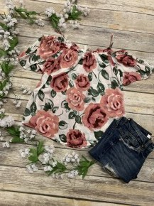 In This Story Off The Shoulder Floral Top - Sizes 4-10 - Multiple Colors